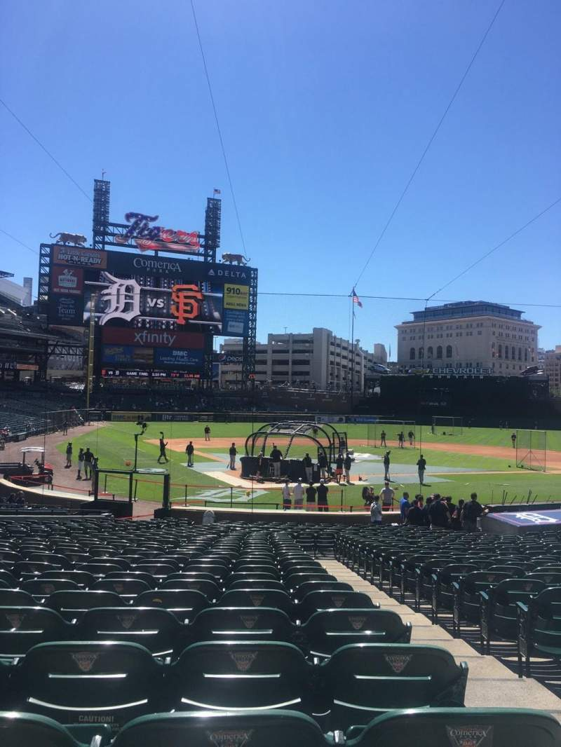 Seating view for Comerica Park Section 126 Row 29 Seat 2