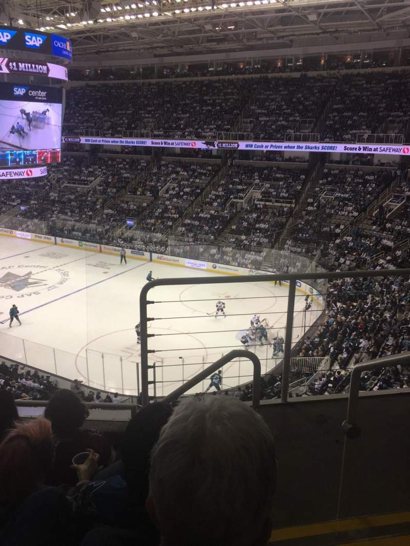 Seating view for SAP Center at San Jose Section 212 Row 4 Seat 1