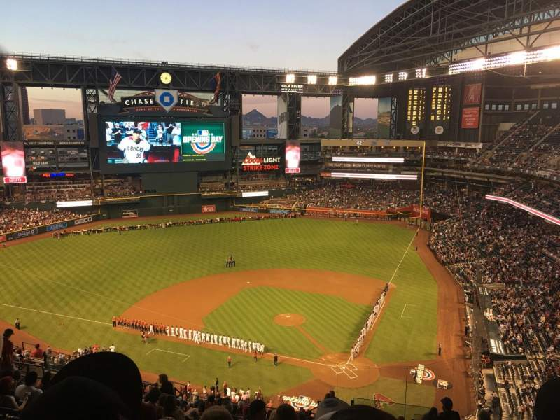 Seating view for Chase Field Section 319 Row 21 Seat 2
