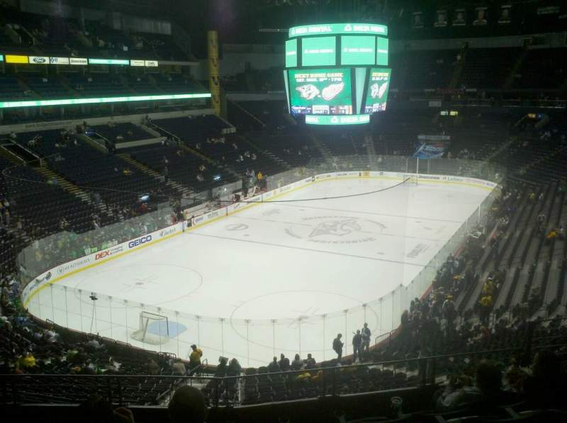 Seating view for Bridgestone Arena Section 203 Row F Seat 7