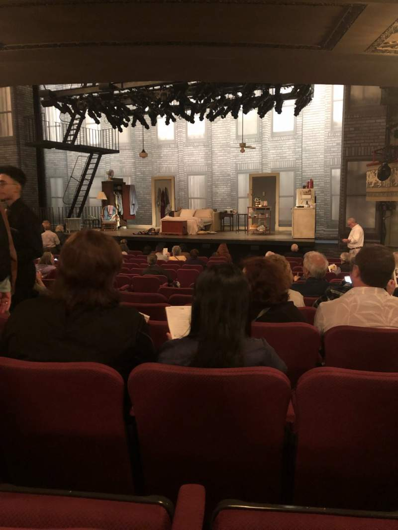 Seating view for Broadhurst Theatre Section Orchestra L Row P Seat 12