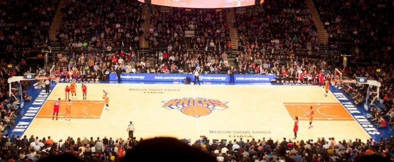 Seating view for Madison Square Garden Section 224 Row 12