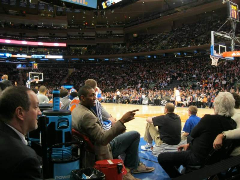Seating view for Madison Square Garden Section 7 Row 1 Seat 4