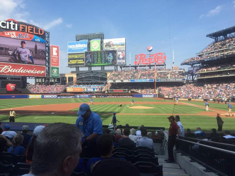 Seating view for Citi Field Section 121 Row 10 Seat 1
