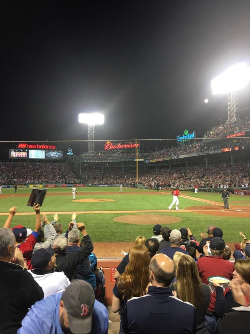 Seating view for Fenway Park Section Field Box 56 Row G Seat 4