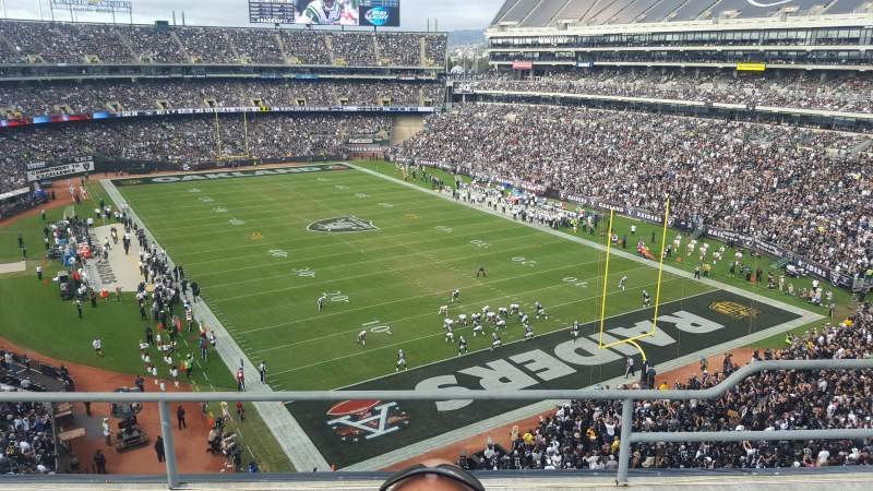 Seating view for Oakland Alameda Coliseum Section 309 Row 3 Seat 4