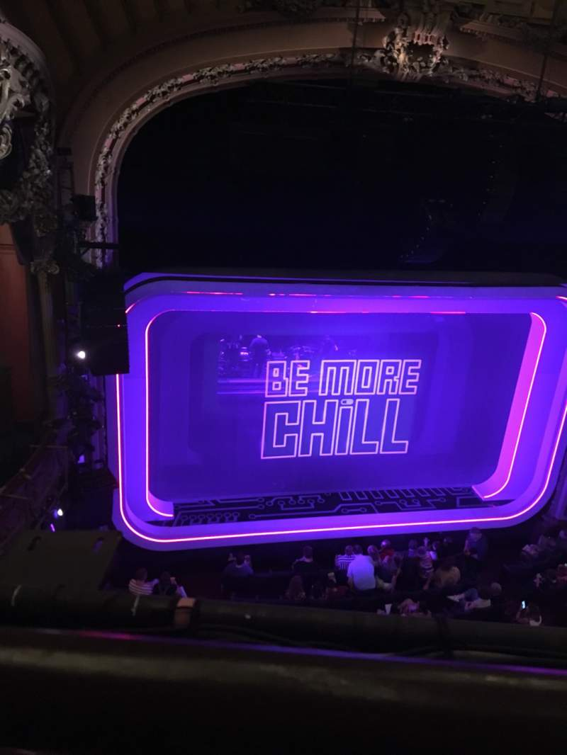 Seating view for Lyceum Theatre (Broadway) Section Balcony R Row A Seat 3