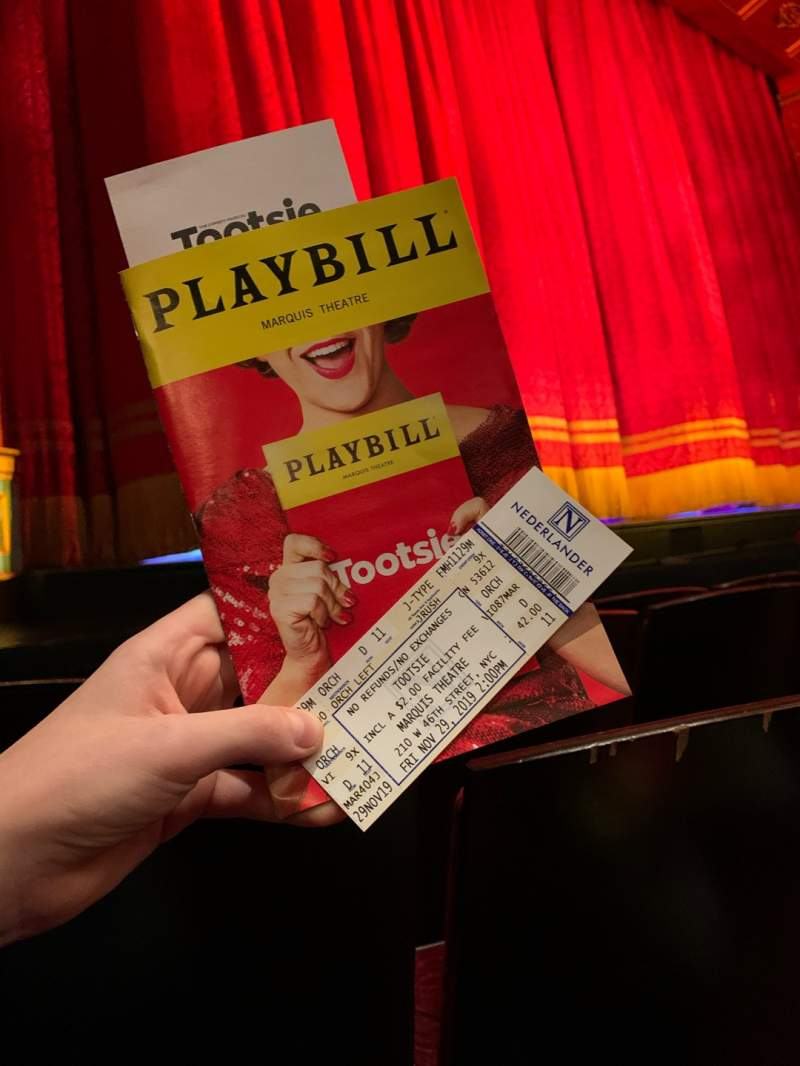 Seating view for Marquis Theatre Section Orchestra L Row D Seat 11