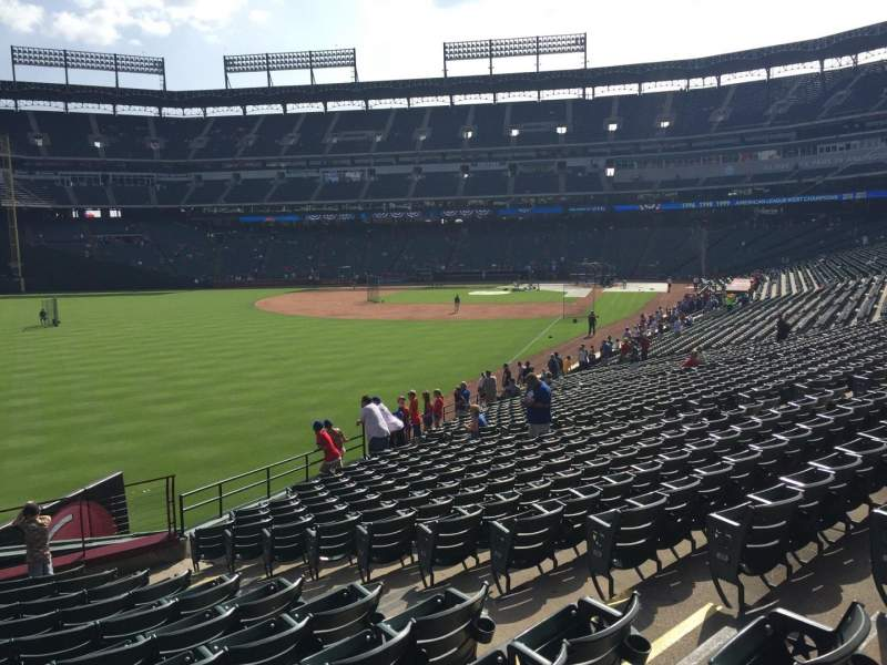 Seating view for Globe Life Park in Arlington Section 9 Row 12 Seat 22