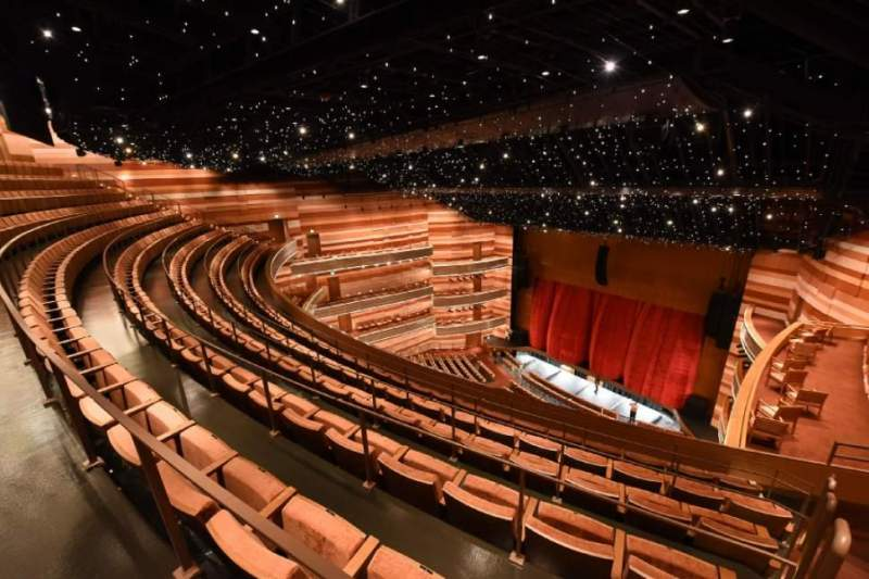 Seating view for Eccles Theater Section Tier 3 Row E Seat 49