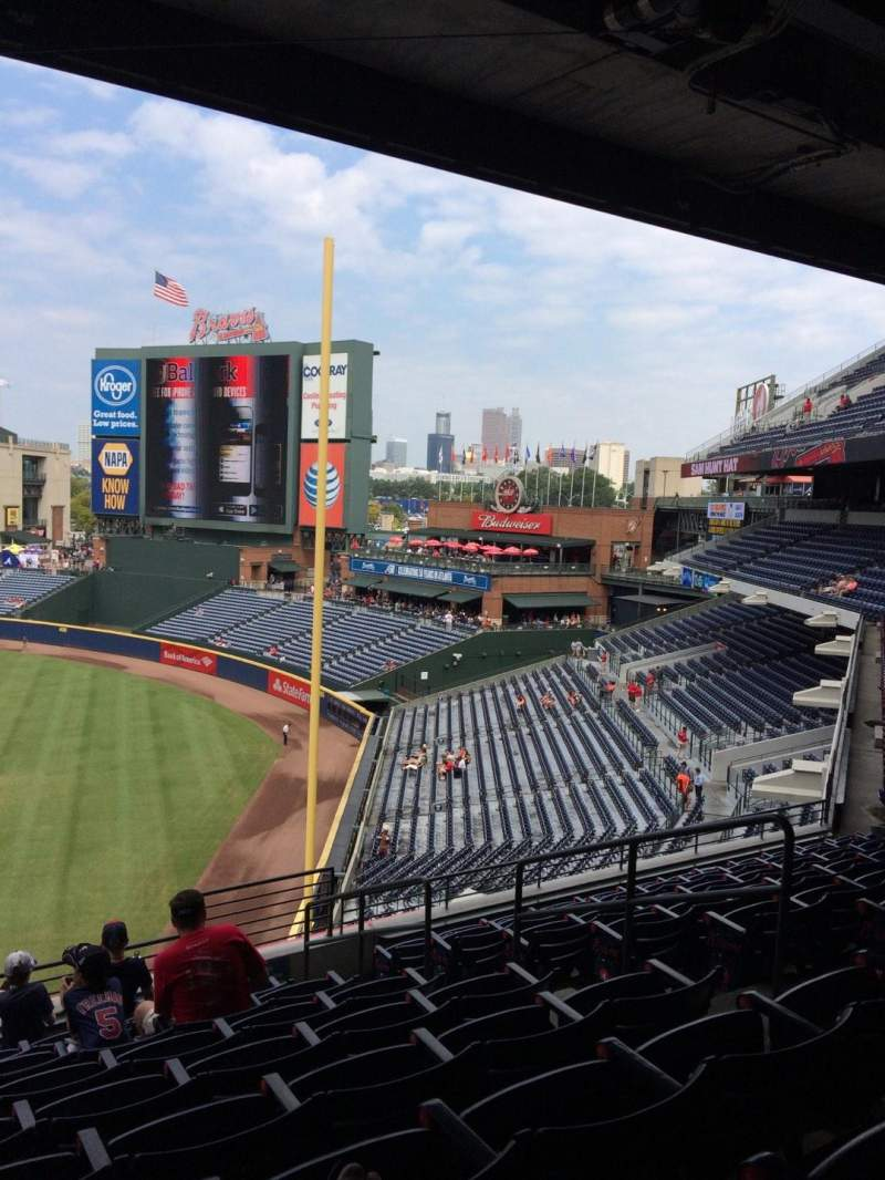 Seating view for Turner Field Section 323 Row 9 Seat 104