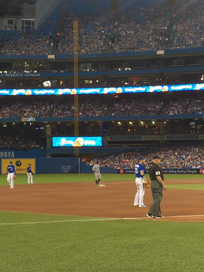 Seating view for Rogers Centre Section 129R Row 3 Seat 3