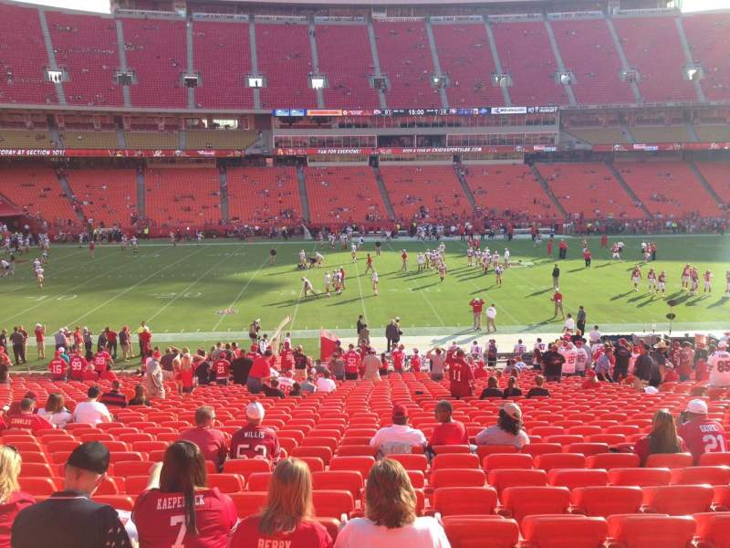 Seating view for Arrowhead Stadium Section 102 Row 32 Seat 15
