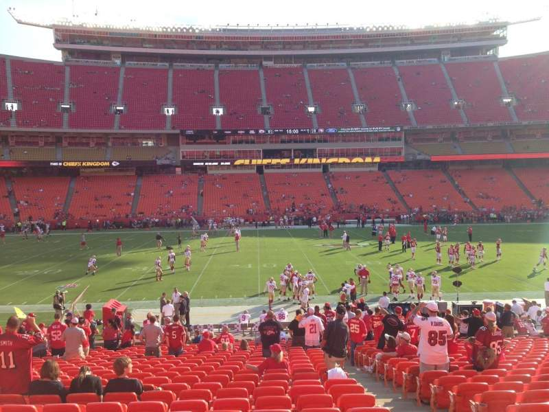 Seating view for Arrowhead Stadium Section 102 Row 23 Seat 3