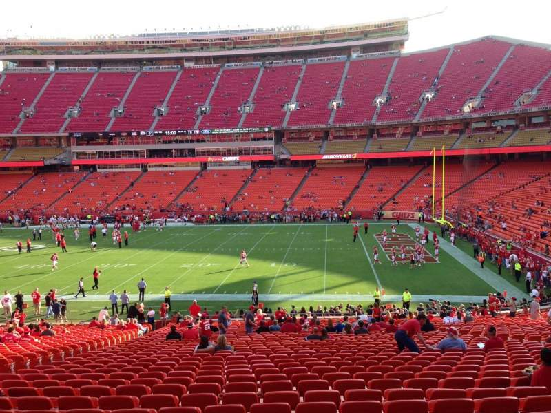 Seating view for Arrowhead Stadium Section 134 Row 36 Seat 19
