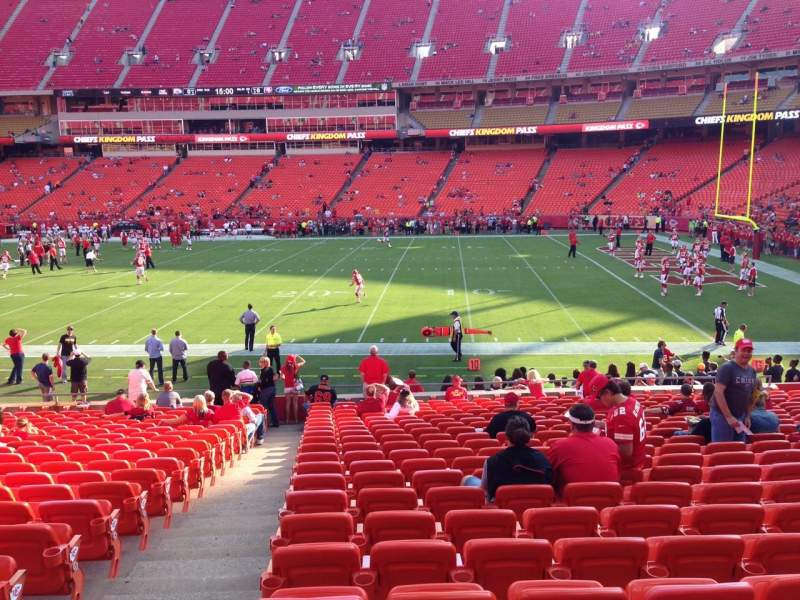 Seating view for Arrowhead Stadium Section 134 Row 21 Seat 2