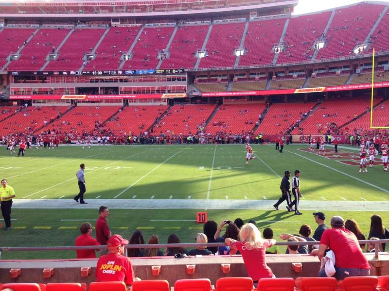 Seating view for Arrowhead Stadium Section 134 Row 7 Seat 16