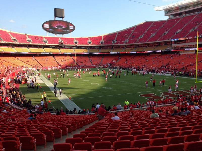 Seating view for Arrowhead Stadium Section 130 Row 26 Seat 18