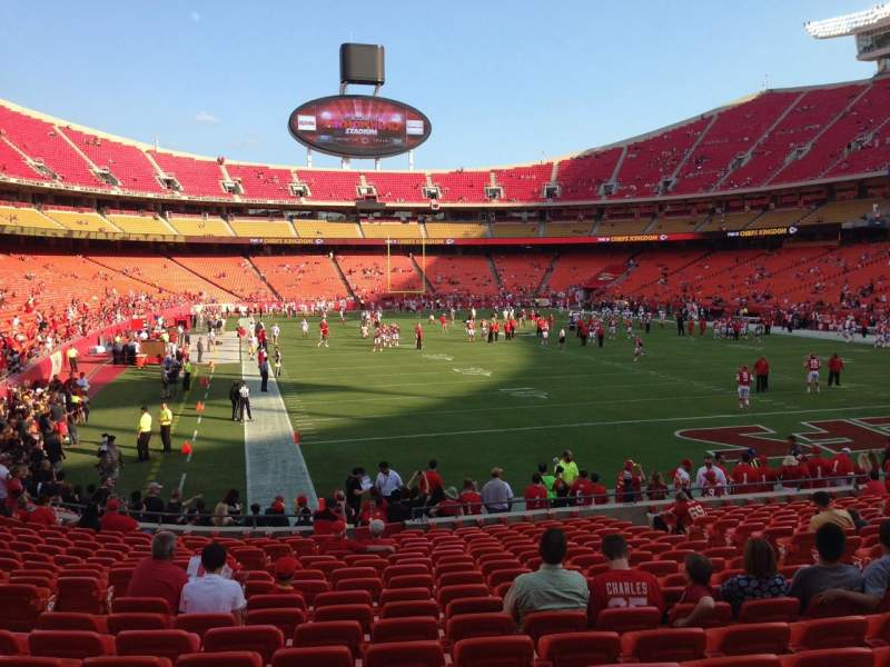 Seating view for Arrowhead Stadium Section 130 Row 19 Seat 8