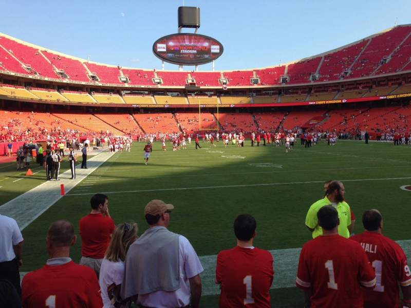 Seating view for Arrowhead Stadium Section 130 Row 2 Seat 3