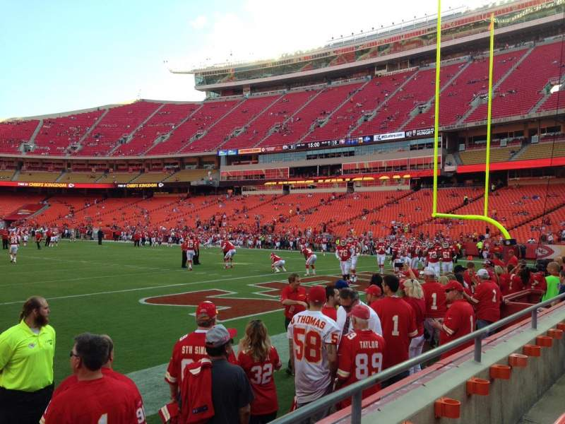 Seating view for Arrowhead Stadium Section 130 Row 2 Seat 5