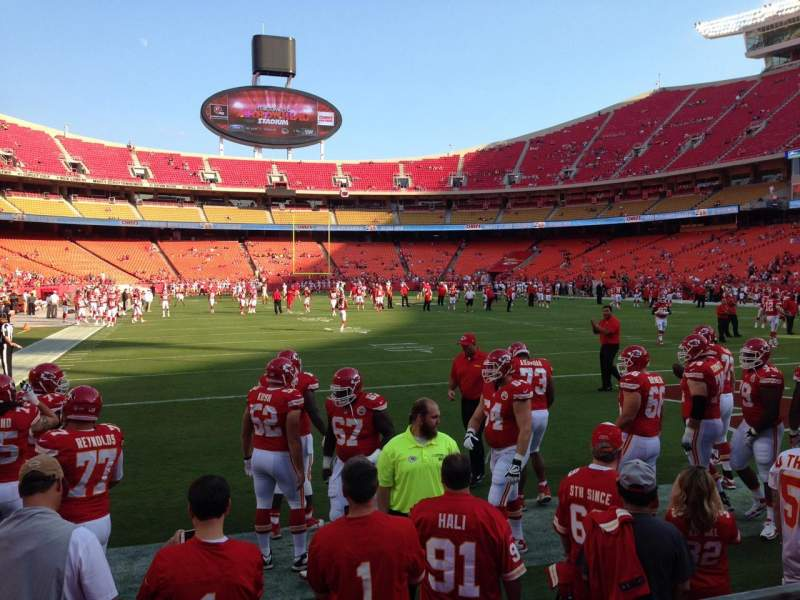 Seating view for Arrowhead Stadium Section 129 Row 2 Seat 1