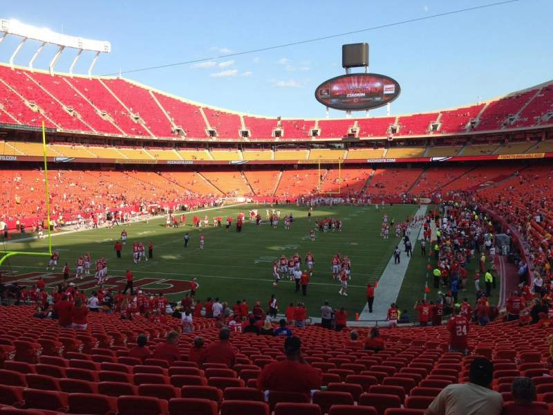 Seating view for Arrowhead Stadium Section 126 Row 30 Seat 15