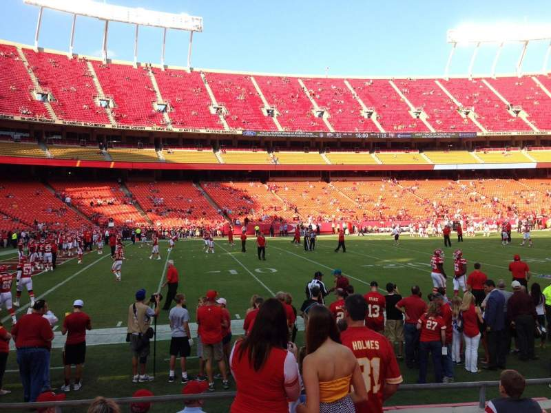 Seating view for Arrowhead Stadium Section 122 Row 6 Seat 15
