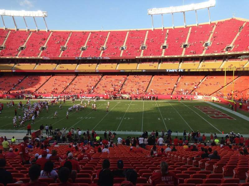 Seating view for Arrowhead Stadium Section 117 Row 35 Seat 8