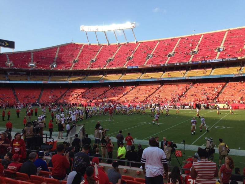 Seating view for Arrowhead Stadium Section 117 Row 24 Seat 2