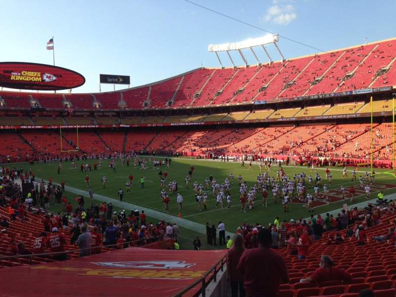 Seating view for Arrowhead Stadium Section 113 Row 30 Seat 23