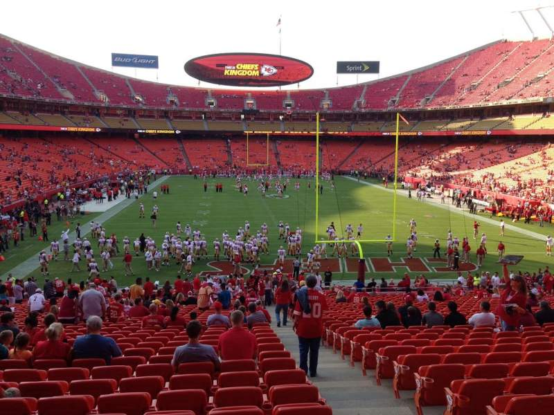 Seating view for Arrowhead Stadium Section 111 Row 27 Seat 2
