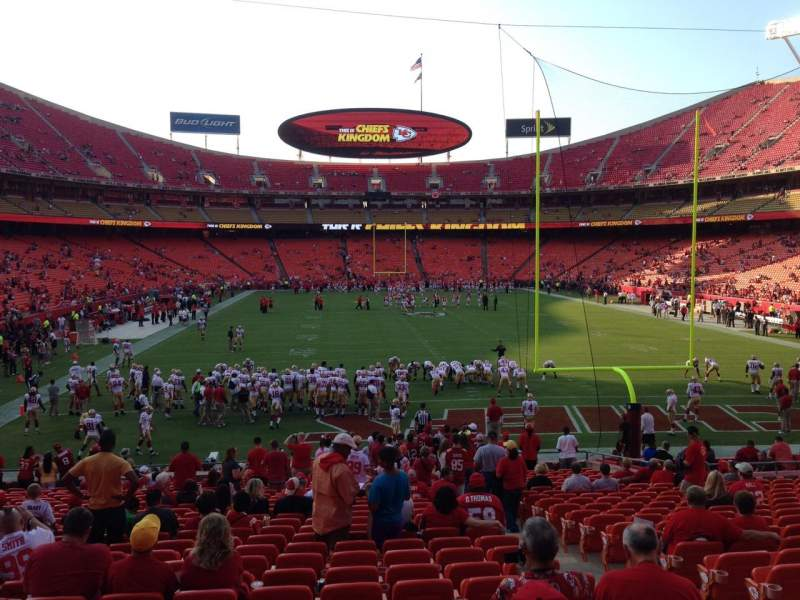 Seating view for Arrowhead Stadium Section 111 Row 25 Seat 4