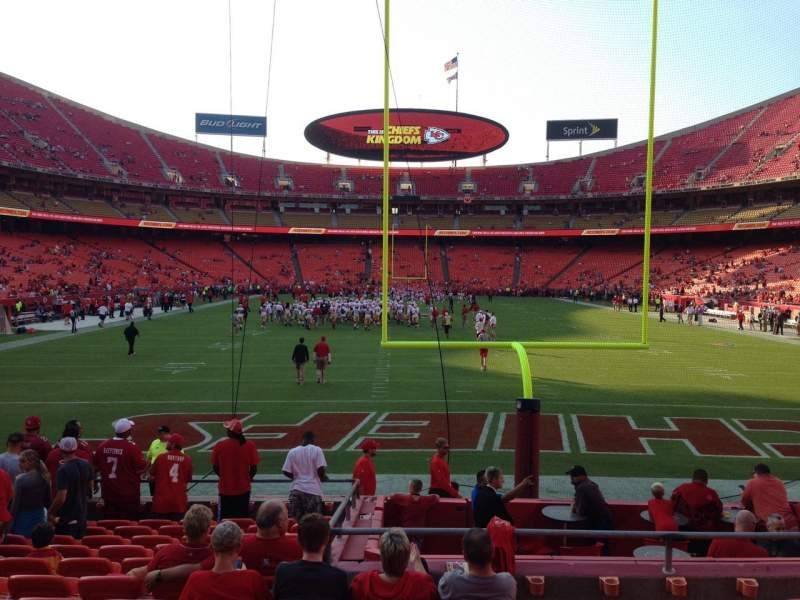 Seating view for Arrowhead Stadium Section 110 Row 13 Seat 20