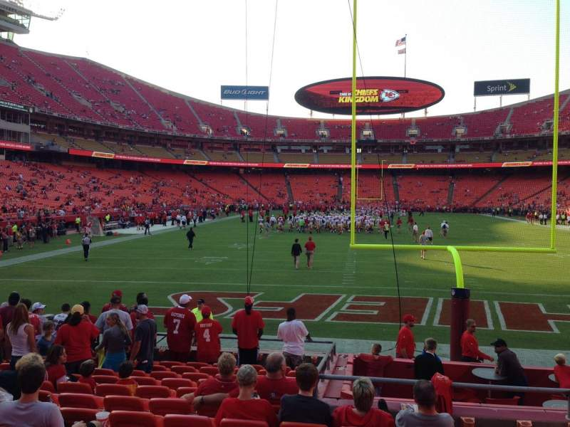 Seating view for Arrowhead Stadium Section 109 Row 7 Seat 20