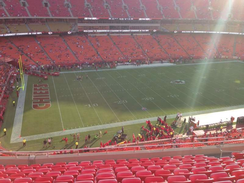 Seating view for Arrowhead Stadium Section 305 Row 11 Seat 11