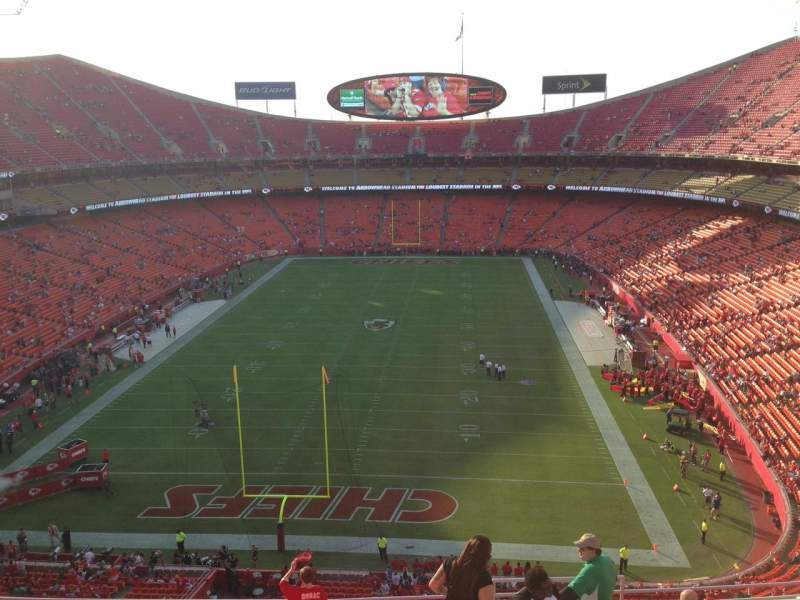 Seating view for Arrowhead Stadium Section 312 Row 12 Seat 4