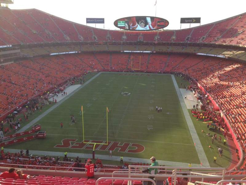 Seating view for Arrowhead Stadium Section 312 Row 15 Seat 2