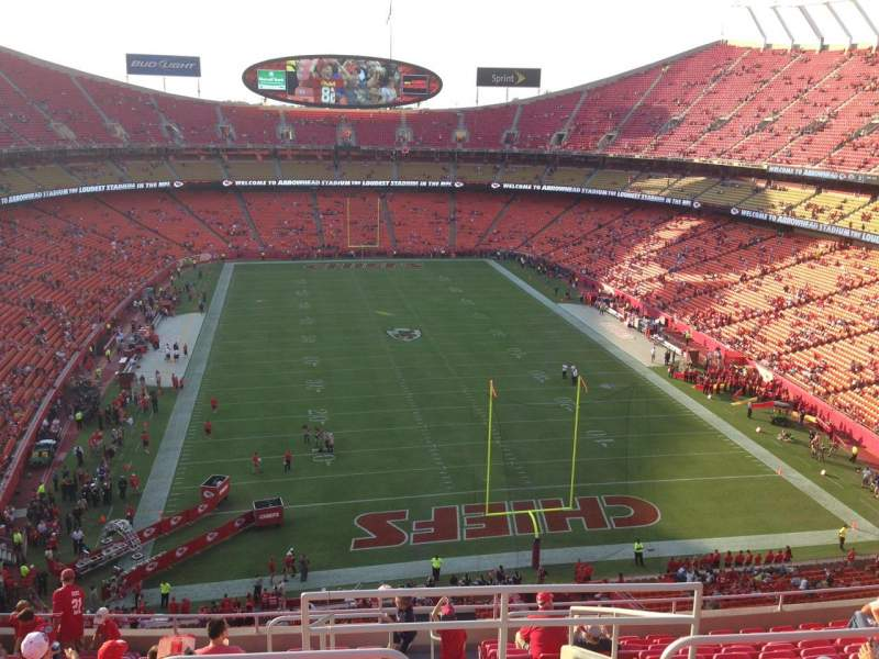 Seating view for Arrowhead Stadium Section 314 Row 14 Seat 1