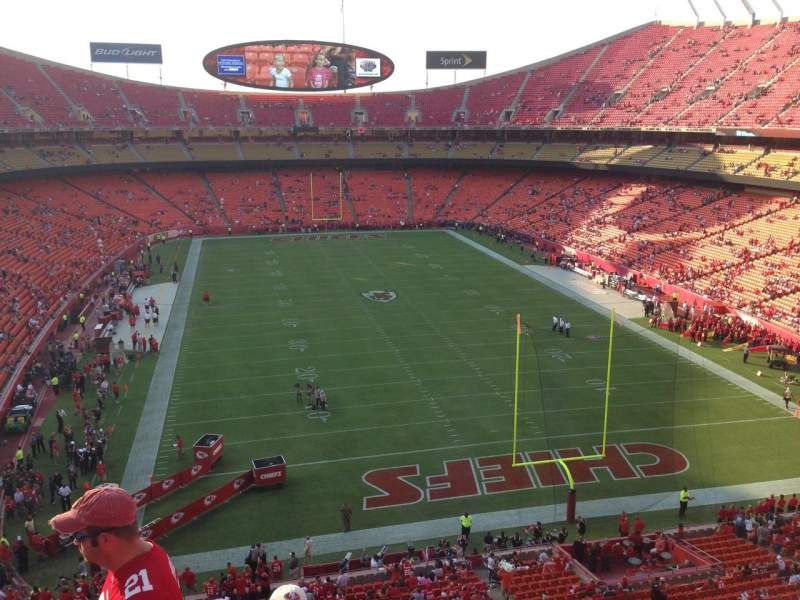 Seating view for Arrowhead Stadium Section 314 Row 4 Seat 9
