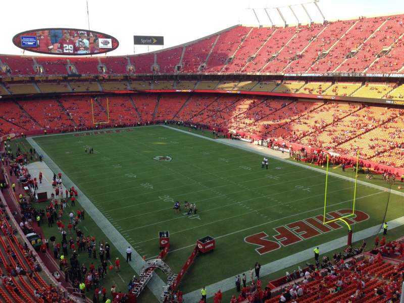 Seating view for Arrowhead Stadium Section 316 Row 4 Seat 5