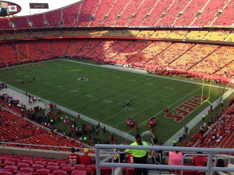 Seating view for Arrowhead Stadium Section 318 Row 11 Seat 1