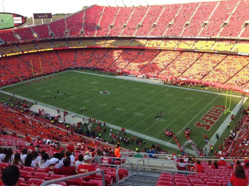 Seating view for Arrowhead Stadium Section 318 Row 27 Seat 28
