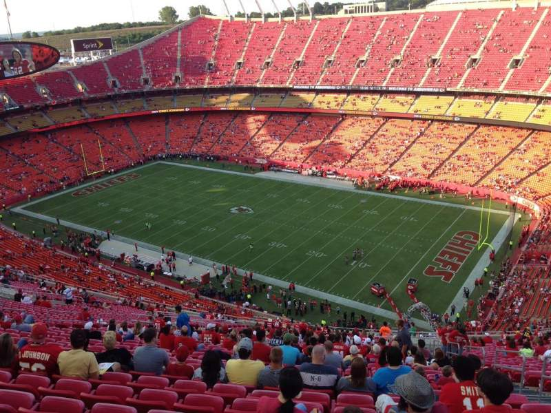 Seating view for Arrowhead Stadium Section 319 Row 41 Seat 5