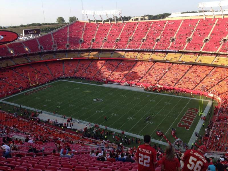 Seating view for Arrowhead Stadium Section 319 Row 39 Seat 15