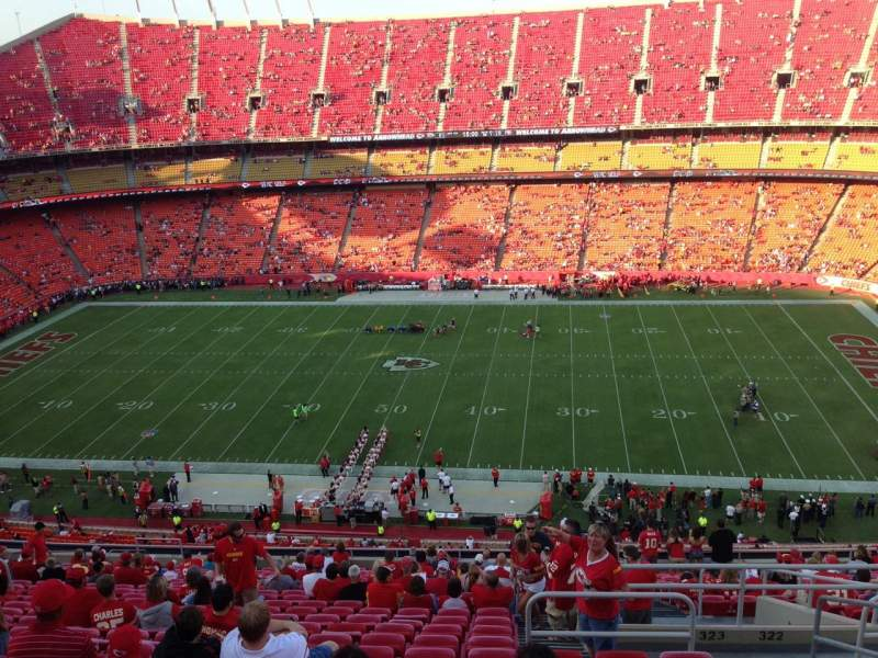 Seating view for Arrowhead Stadium Section 323 Row 24 Seat 4