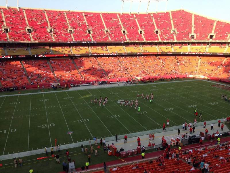 Seating view for Arrowhead Stadium Section 326 Row 2 Seat 22