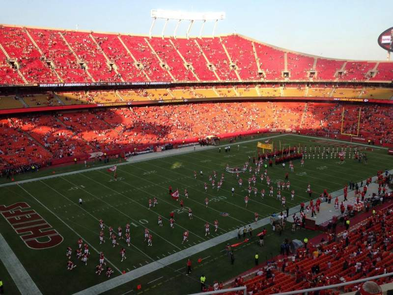 Seating view for Arrowhead Stadium Section 329 Row 7 Seat 2