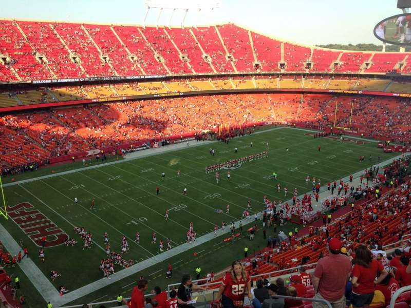 Seating view for Arrowhead Stadium Section 329 Row 15 Seat 4
