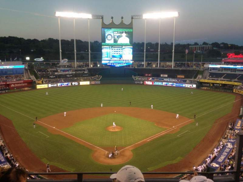 Seating view for Kauffman Stadium Section 420 Row K Seat 9